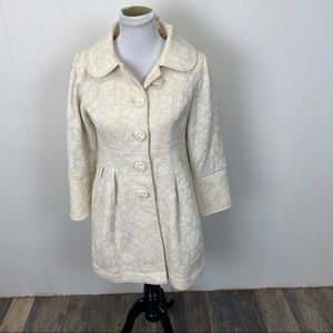 Uncle Frank Ivory Embroidered Coat